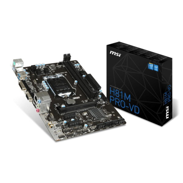 Intel Core i5 4690K 3.5 GHz, Quad Core CPU and MSI H81m Pro-VD Motherboard