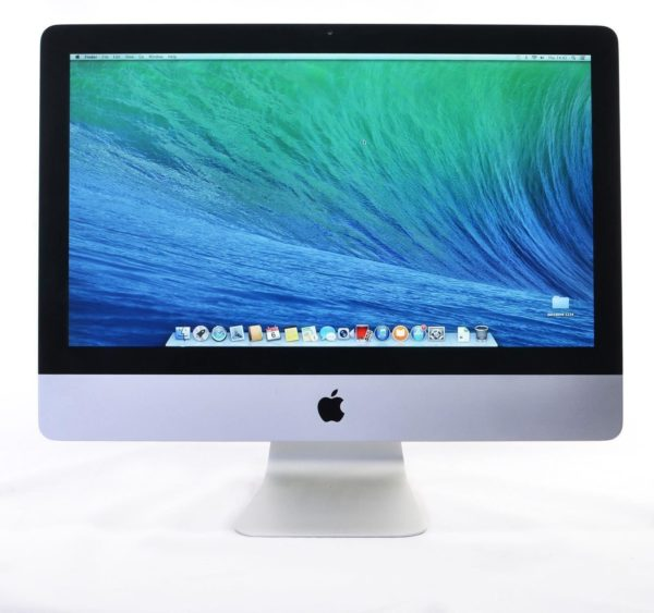 Late 2013 Apple iMac 21.5 inch Slim – Intel Quad Core i5 2.9GHz. 8GB. 480GB SSD. GT 750M 1GB. Refurbished.