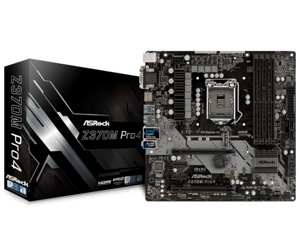 Intel Core i3-8100 3.6GHz Quad Core Coffee Lake Processor & ASRock Z370M Pro4 Socket 1151 Motherboard – Refurbished.