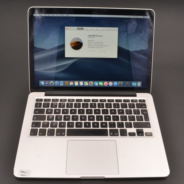 2015 Apple MacBook Pro Retina 13 inch – Intel Core i5 2.7 GHz. 8 GB. 128GB. MF839B/A. Refurbished